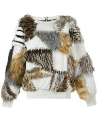 Ashish - Embellished Faux Fur Jumper - Lyst