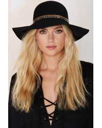695003a553292 Nasty Gal - Carrie Wool Floppy Hat - Black - Lyst