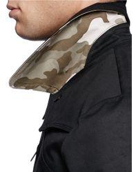 Denham - 'sumak' Asymmetric Zip Front Macintosh Coat - Lyst