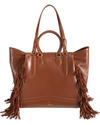 Christian Louboutin Justine Fringed Shopping Tote - Lyst