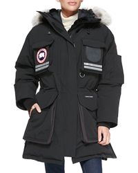 Canada Goose Snow Mantra Fur-hood Coat Black Xx-small - Lyst