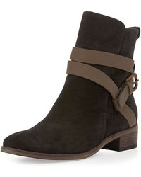 See By Chloé Janis Suede Ankle Boot - Lyst