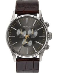 Nixon | Sentry Chronograph Watch | Lyst
