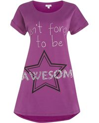 Therapy Awesome Jersey Sleep Tee - Lyst