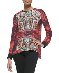 Clover Canyon Rose-print Matador Top - Lyst