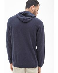 21men Hooded Ribbed Knit Henley - Lyst