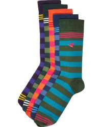 River Island Multicoloured Stripe Animal Motif Socks Pack - Lyst