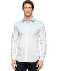 Calvin Klein Gradient-Print Shirt white - Lyst