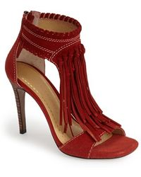Chinese Laundry 'Santa Fe' Suede Fringe Sandal brown - Lyst