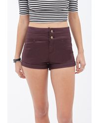 Forever 21 Highrise Denim Shorts - Lyst