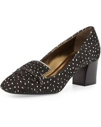 Lanvin Dotted Calf Hair Loafer Pump - Lyst
