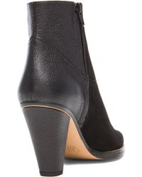 Chloé Suede  Leather Booties - Lyst