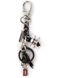 Diesel Black Achir Keychain - Lyst
