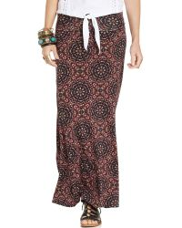 American Rag - Printed Foldover Maxi Skirt - Lyst