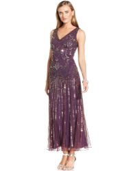 Pisarro Nights Embellished Dropwaist Gown - Lyst