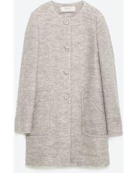 Zara | Mohair Coat | Lyst