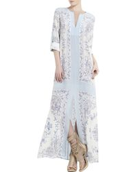 BCBGMAXAZRIA Olivia Scarf Printed Tunic Dress - Lyst