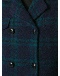 Etoile Isabel Marant Blue Gael Coat - Lyst