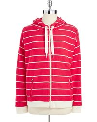 Jones New York Striped Zipper Jacket - Lyst