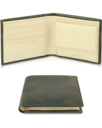Paul Smith Mens Brown Artisan Camo Leather Billfold Wallet - Lyst