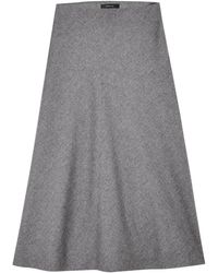 Theory Janheem Flannel Skirt - Lyst