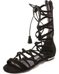 Schutz Billa Suede Gladiator Sandals  - Lyst