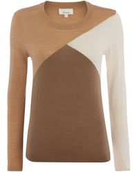 Linea Merino Colourblock Jumper - Lyst