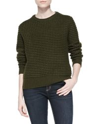 Marc By Marc Jacobs Walley Waffle-knit Sweater - Lyst