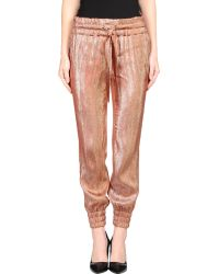 Gucci Brown Casual Pants - Lyst