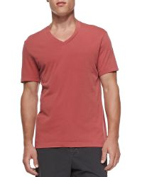 James Perse Cotton Vneck Tee - Lyst