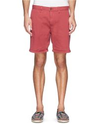 Scotch & Soda Garment Dye Chino Shorts - Lyst