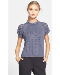Tibi Tube Yarn Short Sleeve Sweater - Lyst
