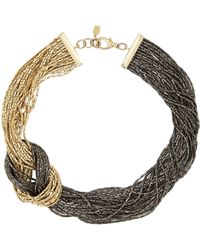 Fallon Silver Knot Necklace - Lyst