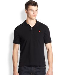 Play Comme des Garçons | Red Heart Cotton Polo | Lyst