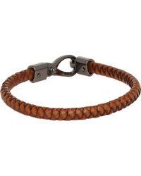 Tod's Woven Leather Bracelet - Lyst