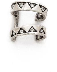 House of Harlow 1960 - Engraved 2 Ring Ear Cuff Silver - Lyst