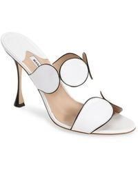 Manolo Blahnik Women'S 'Alikamu' Leather Sandal - Lyst