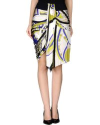 Emilio Pucci Knee Length Skirt yellow - Lyst