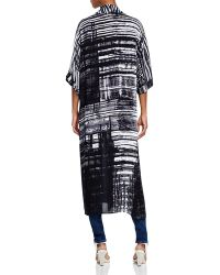 NIC+ZOE - Gridlock Abstract Print Kimono - Lyst