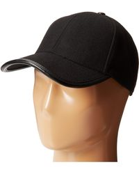 San Diego Hat Company Cth3700 Wool Cap With Faux Leather Trim - Lyst