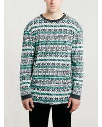 Topman Aztec Print Longsleeve T-shirt - Lyst
