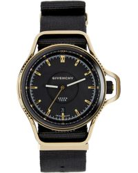 Givenchy - Black And Gold Seventeen Watch - Lyst