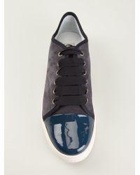 Lanvin Patent Toe Sneakers - Lyst