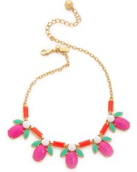 Kate Spade Pucker Up Short Necklace - Lyst