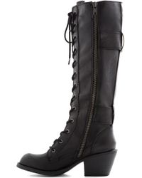 ModCloth Want To Wander Boot in Black - Lyst