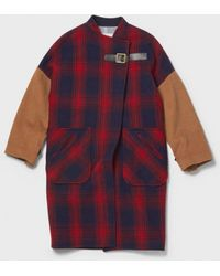Band of Outsiders Oversize Camel Hair Coat - Lyst