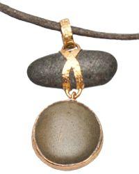 Lou Zeldis - Pebble Necklace - Lyst