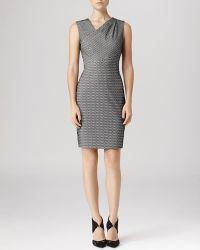 Reiss Dress  Mina Geometric Stitch - Lyst
