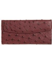 Brooks Brothers Ostrich Wallet - Lyst