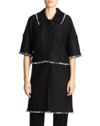 St. John Tweed Zip-Off Jacket - Lyst